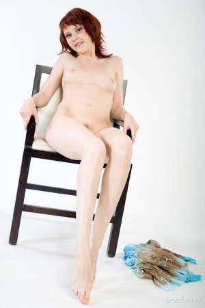 Redhead with snow white skin strips her  - XXX Dessert - Picture 12