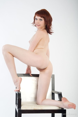 Redhead with snow white skin strips her  - XXX Dessert - Picture 13