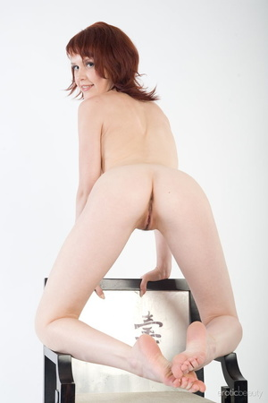 Redhead with snow white skin strips her  - XXX Dessert - Picture 14