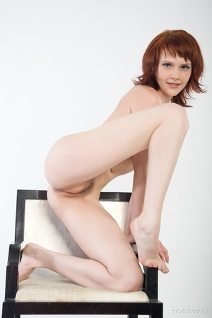Redhead with snow white skin strips her  - XXX Dessert - Picture 16
