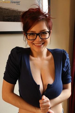 sexy slut black glasses