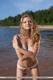 seductive blonde white lacy