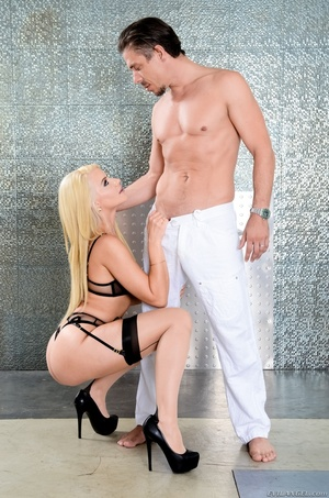 Blonde bombshell teases a hunk dude with - XXX Dessert - Picture 10