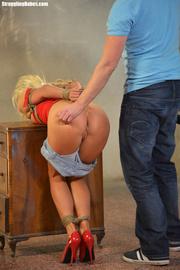 lusty blonde hot corset