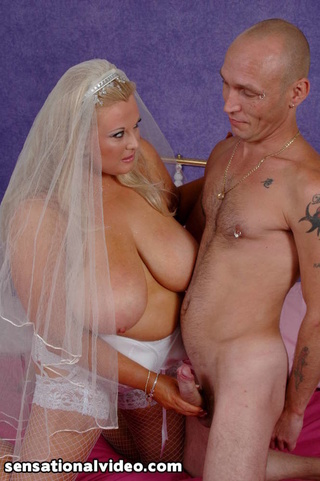 size bride wearing white