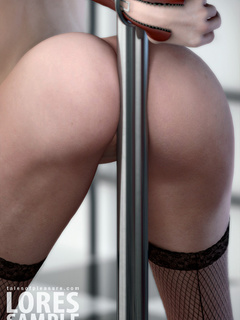 Gagged and blindfolded chick in fishnet and leather - Picture 3