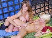 two horny women strip