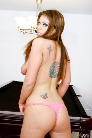 brown haired seductress poses