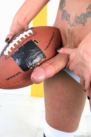 inked shemale football player