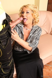 mature blonde gives plumber