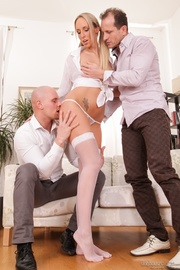 blonde wench white stockings