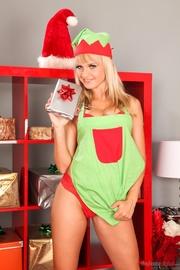 blonde christmas cutie takes