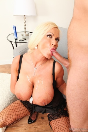 Tan MILF in black lingerie has huge tits - XXX Dessert - Picture 15