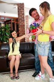 cute teenager finds herself