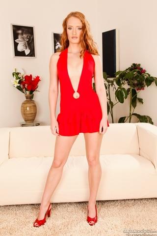 long-haired ginger striking red