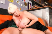 mature bbw gets doggy-style