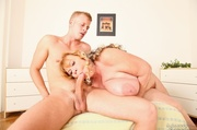 mature broad with big