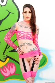 foxy chick teases with