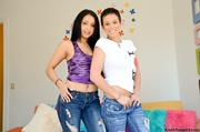 sweet brunette with butch