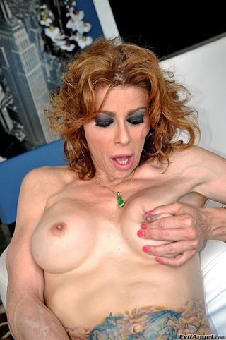pretty transgender blonde wearing