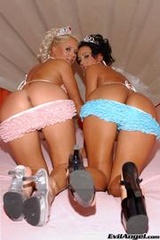 two princesses sexy bikini
