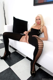 blonde with long legs