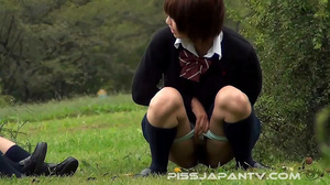 Three hot Japanese coeds are seen pissin - XXX Dessert - Picture 9