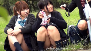 Three hot Japanese coeds are seen pissin - XXX Dessert - Picture 10