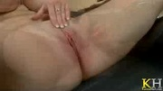 milf black blouse and