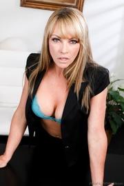 this kinky blonde secretary