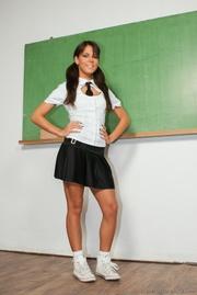 this kinky brunette school