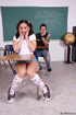 bright-eyed school girl slut