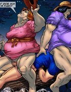 Two BBWs and a scintillating Dom prove to be ball-busters at a lively