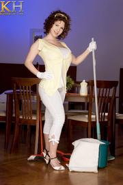 hot janitress displays her