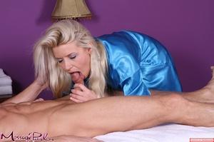 Lavish blonde in bright blue shiny under - XXX Dessert - Picture 6