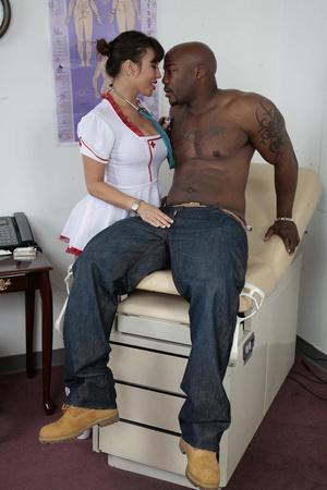 Busty nurse in white stockings fucking h - XXX Dessert - Picture 1