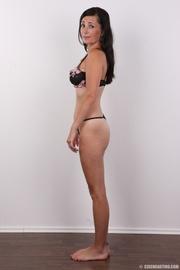 sexy brunette milf displays