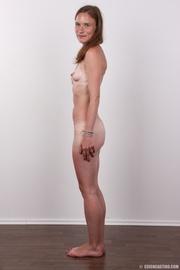 skinny brunette bitch displays