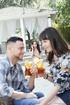 couple enjoys refreshing drink