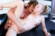 blonde slut ties her