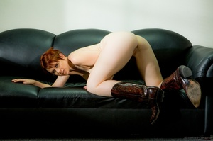 Short-hared redhead posing in men's suit - XXX Dessert - Picture 12