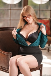 spectacled redhead milf's massive