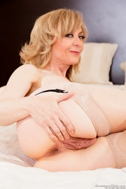 purple lingerie blonde gilf