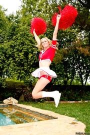 cheerleader uniform and white