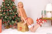 hot blonde white stockings
