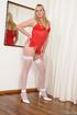 red peignoir dressed ladyboy