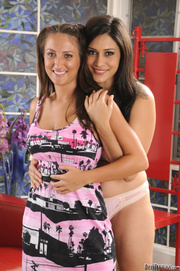 sexy brunettes posing sexy