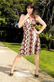 black haired lass miniskirt