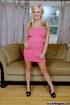 high heeled blonde short