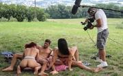 dos parejas sexo picnic